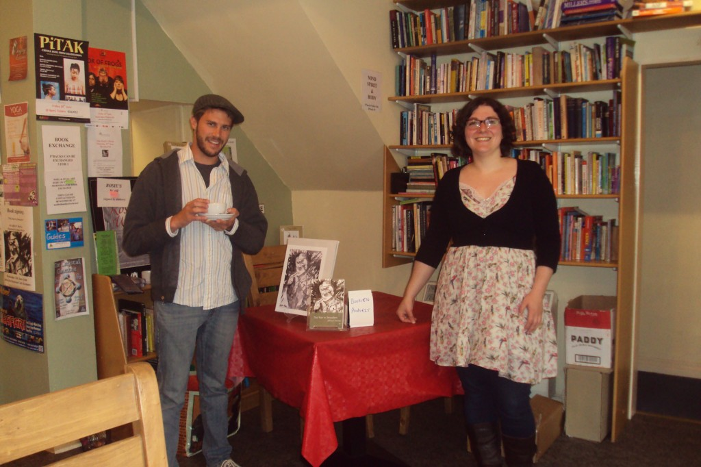 Jeffrey F. Barken and Diana Muller together at the Book Stop Cafe, Kenmare Ireland, June 2013