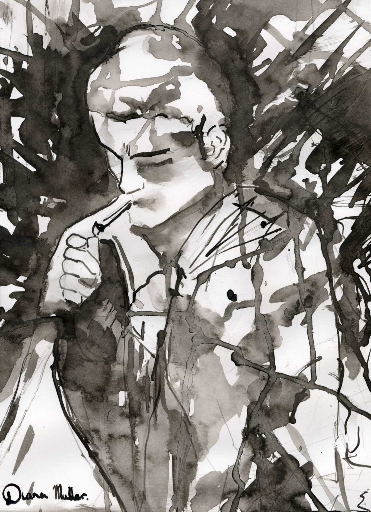 """""""This Year in Jerusalem"""" (Cover Illustration, Indian ink and Acrylic, Diana Muller 2012)"""