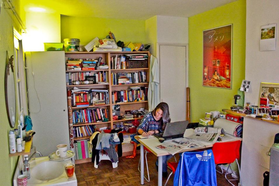"""""""Anouk, Writing"""" Photo courtesy of Anouk Kemper"""